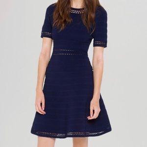 Sandro navy blue dress